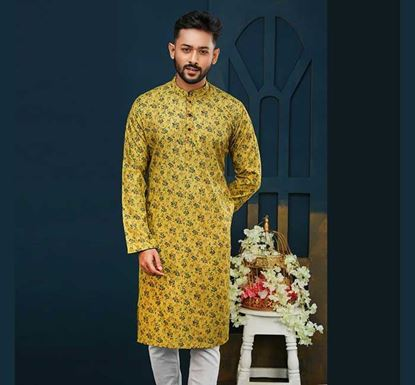 Semi Long Cotton Punjabi for Men – ES1574