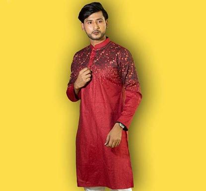 Semi Long Cotton Punjabi for Men – ES1595