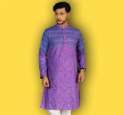 Semi Long Cotton Punjabi for Men – ES1942