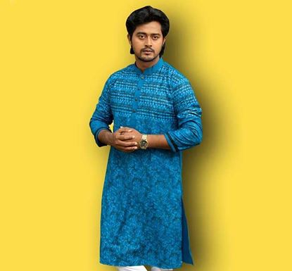 Semi Long Cotton Punjabi for Men – ES2312