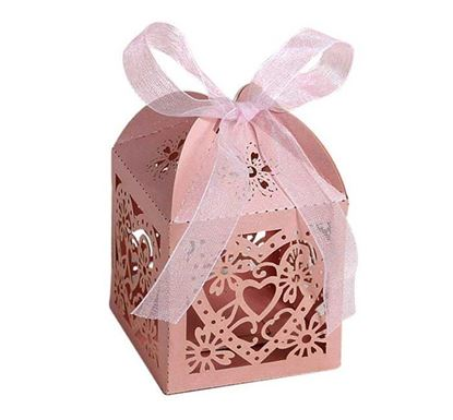 Love Heart Laser Cut Hollow Jewelry Gift Box RB-05PI