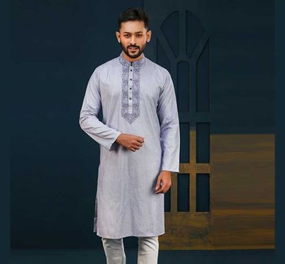 Semi Long Cotton Punjabi for Men - ES2072