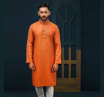 Semi Long Cotton Punjabi for Men - ES2073