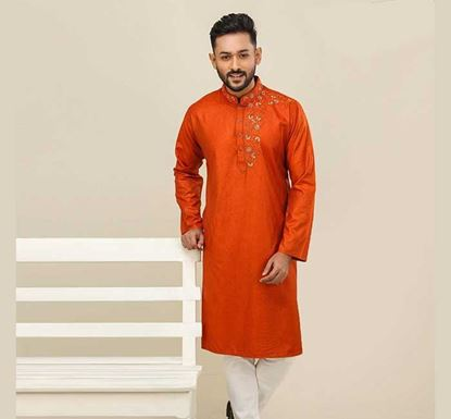 Semi Long Cotton Punjabi for Men - ES2074