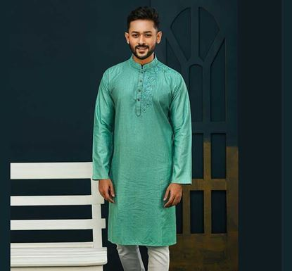 Semi Long Cotton Punjabi for Men - ES2075