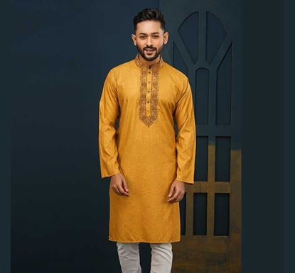 Semi Long Cotton Punjabi for Men - ES2288