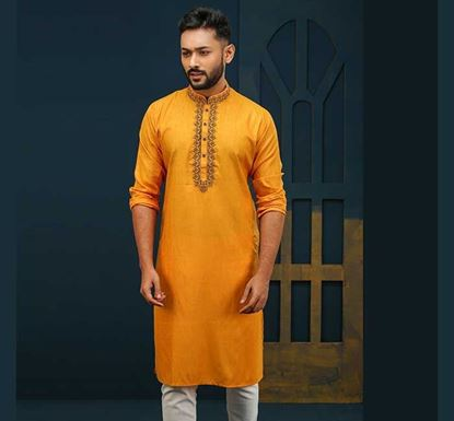 Semi Long Cotton Punjabi for Men - ES2293