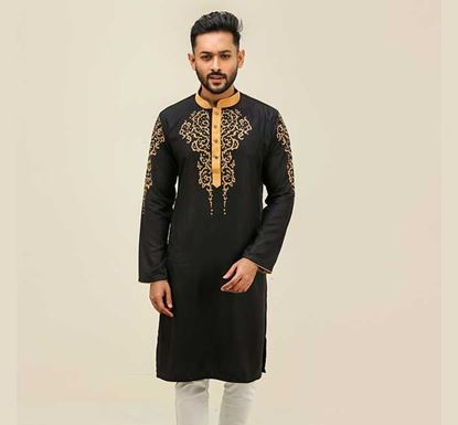 Semi Long Cotton Punjabi for Men - ES2314
