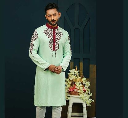 Semi Long Cotton Punjabi for Men - ES2320