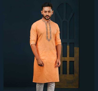 Semi Long Cotton Punjabi for Men - ES2322