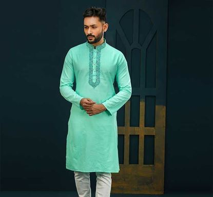 Semi Long Cotton Punjabi for Men - ES2328