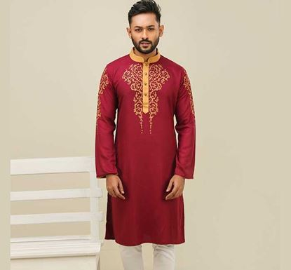 Semi Long Cotton Punjabi for Men - ES2329