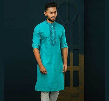 Semi Long Cotton Punjabi for Men - ES2334