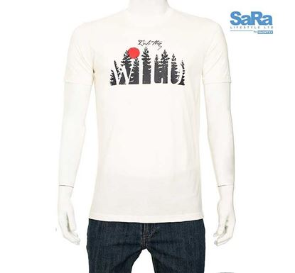 SaRa Slim Fit Half Sleeve T-shirt for Men - MTS51AF