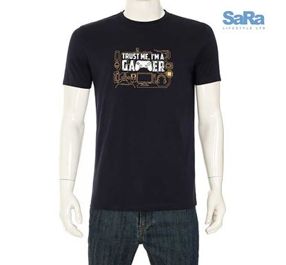 SaRa Slim Fit Half Sleeve T-shirt for Men - MTS21AF