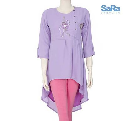 SaRa Georgette Fashion Tops for Women - SSWEXT2C