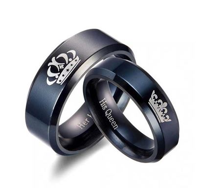 Stainless Steel Wedding Rings for Couple CR-17