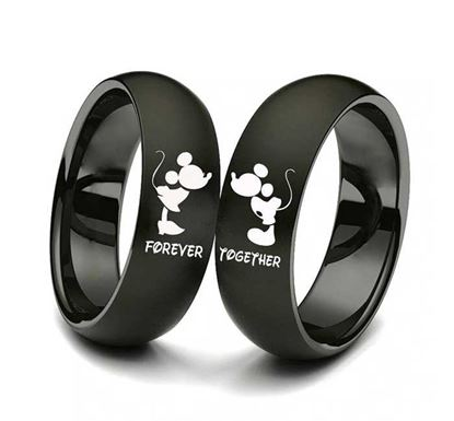 Stainless Steel Couple Ring CR-43