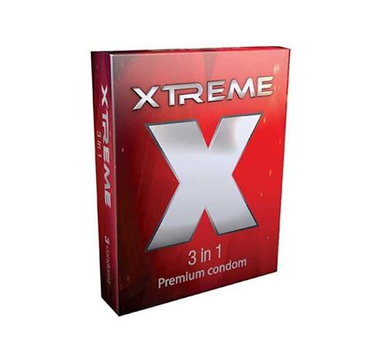 SMC Xtreme 3 in 1 Condom - 3 Pieces Pack (A013302) – 1 Pack
