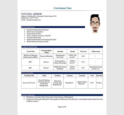 3 Pages Word Professional Resume - 13540021