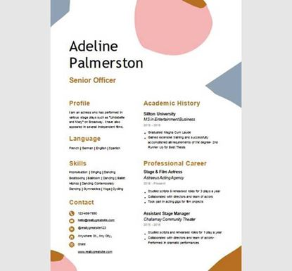 Creative Professional PowerPoint Resume - 13540028