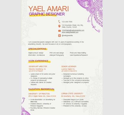 Graphic Designer PowerPoint Resume - 13540029