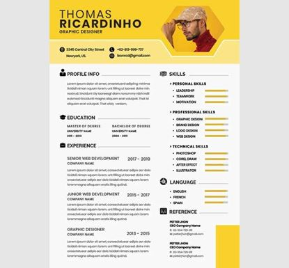 1 Page AI/PSD/PPT/EPS Professional Resume with Cover Letter - 13540040
