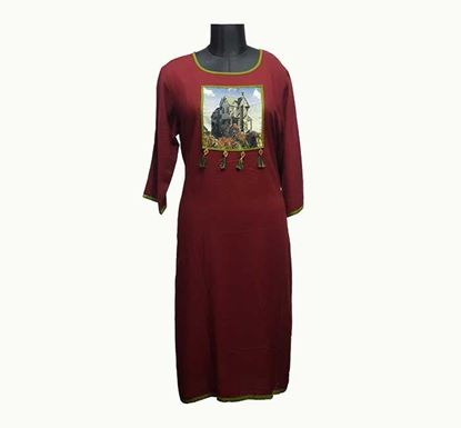 Premium Long Linen Kurti for Women - ELPRLK002