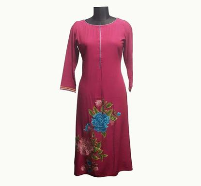 Premium Long Linen Kurti for Women - ELPRLK003