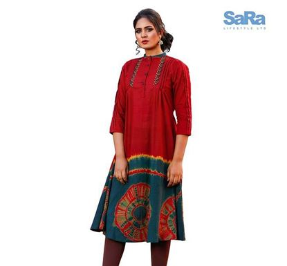 SaRa Ethnic Mid Length Kurti for Women - WEMS46A