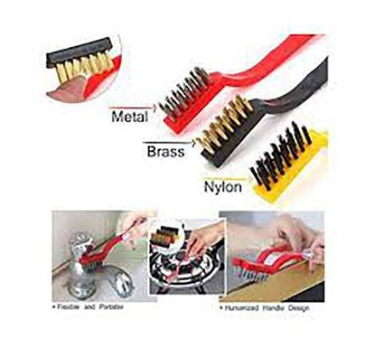 Stainless Steel Wire Brush Set 3 Pieces