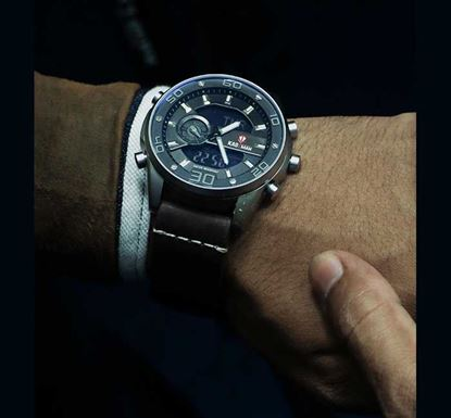 Artificial Leather Wristwatch for Men W-15
