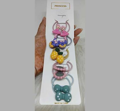Rubber Quality Bow Style Hair Jhuti Band for Kids TR-1524