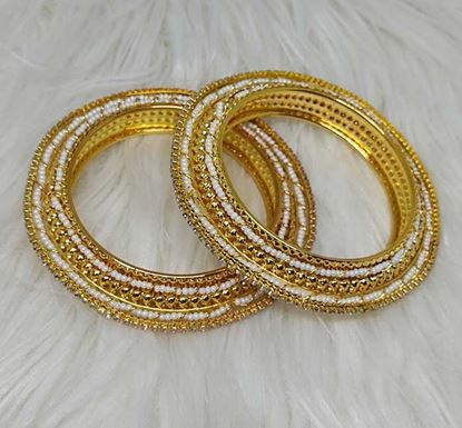 Gold Plated Stone Work Bangle TR-1531