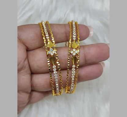 Gold Plated Stone Work Bangle TR-1533
