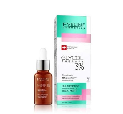 Eveline Glycol Therapy 3% Multipeptide Anti-wrinkle Treatment 18 ml