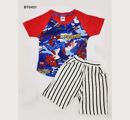 All Over Print T-shirt & Pant Set for Boys - BTS431