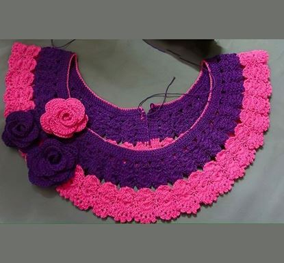 Premium Neck Design Lace for Baby Girl- 1091