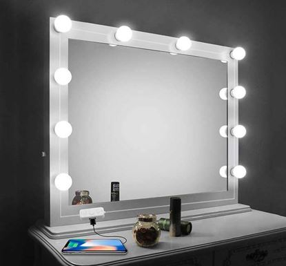 LED Lights for Mirror with Dimmer & USB Phone Charger