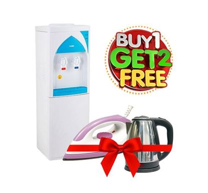 Buy Vision Water Dispenser CC Floor Stand - 823336 (Get Electric Iron & Kettle Free)