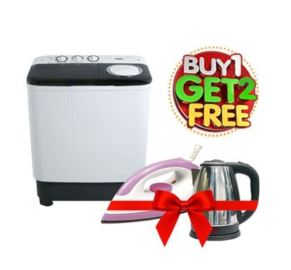 Buy Vision Twin Tub Washing Machine 7kg E08 823471 (Get Electric Iron & Electric Kettle Free)