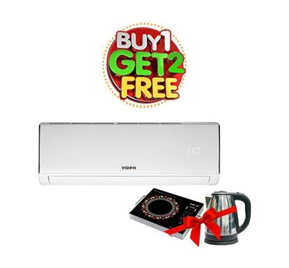 Buy Vision AC 1 Ton-AXCI Inverter (3D Elite) 827935 (Get Electric Kettle & Infrared Cooker Free)