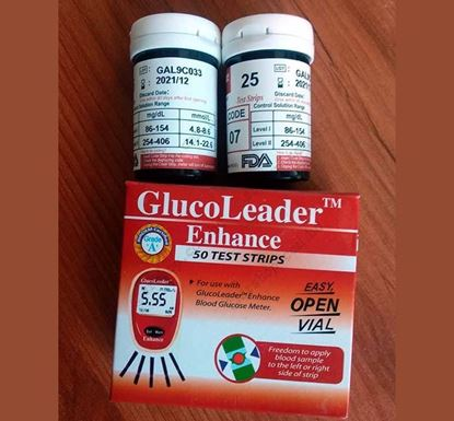 25 Pieces Gluco Leader Diabetic Test Strips - Red