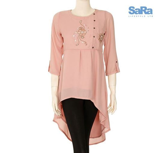 SaRa Georgette Fashion Tops for Ladies - SSWEXT2A