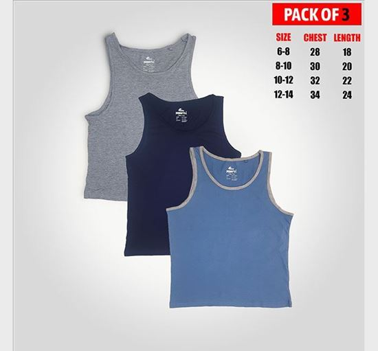 Pack of 3 Combo Cotton Tank Tops for Baby Boys - 1004