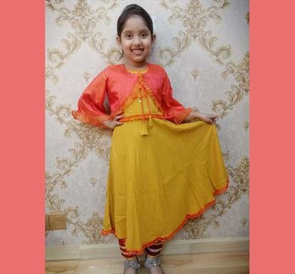 Long Frock with Koti for Baby Girl - DB1108Y