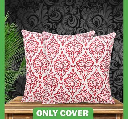 Decorative Cotton Cushion Cover 16 x 16 Inch - 77565 (Buy 1 & Get 1 Free)
