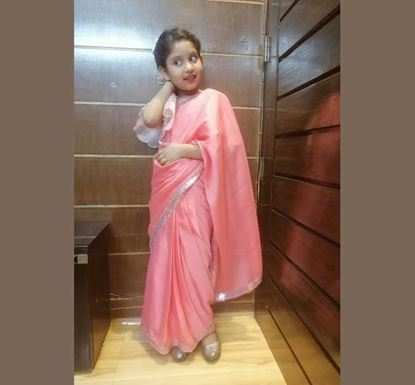 Silk Saree with Blouse for Baby Girl - DB1161P