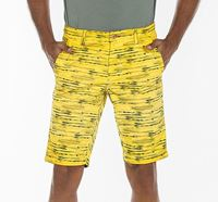 Printed Cotton Chino Shorts for Men - RN-FOY-SS21-SRT2101 YELL