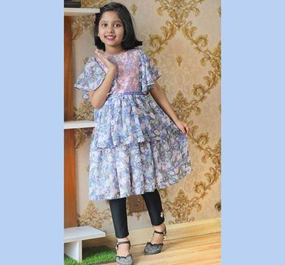 Georgette Frock for Baby Girl - DB1178S